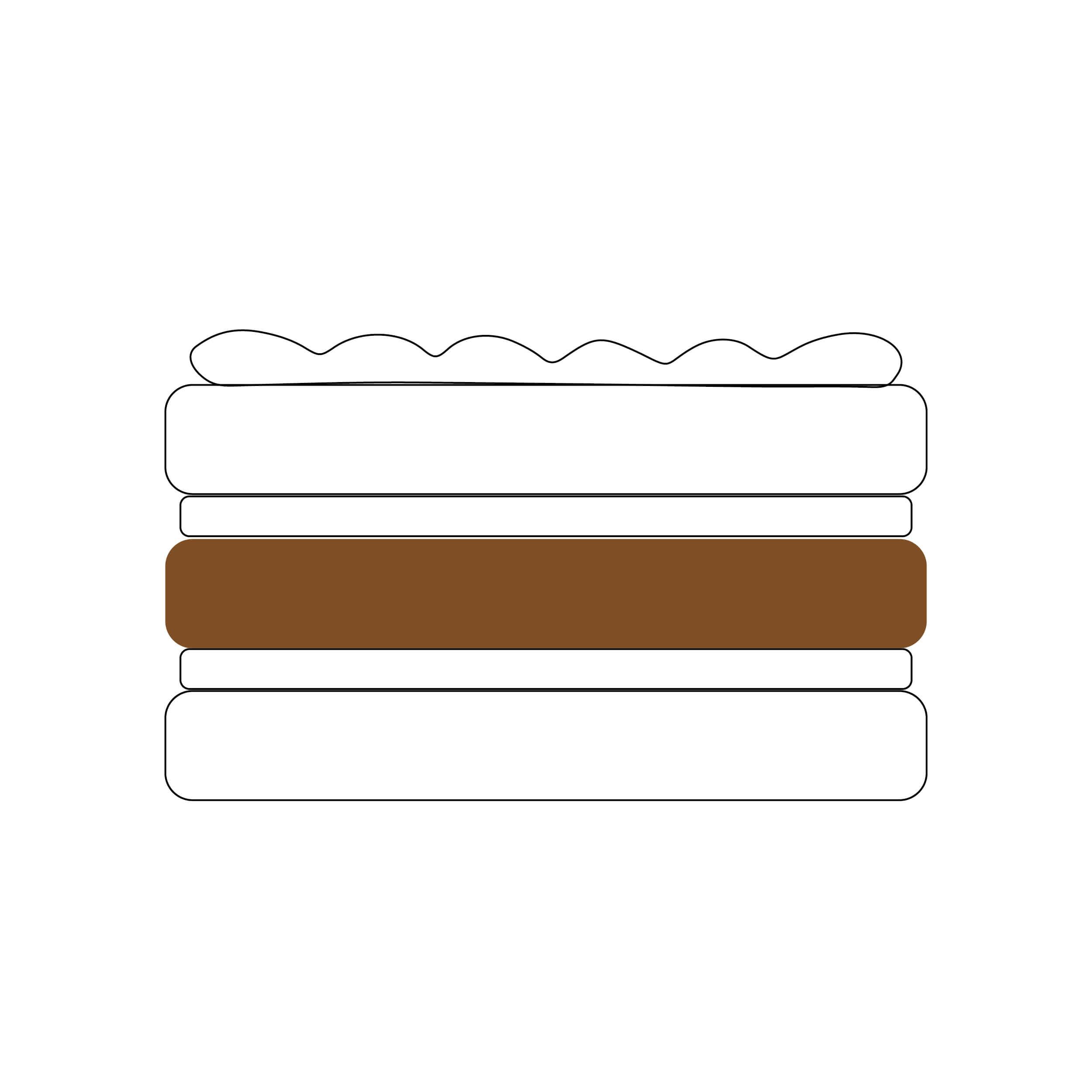 Escolha o bolo do meio :