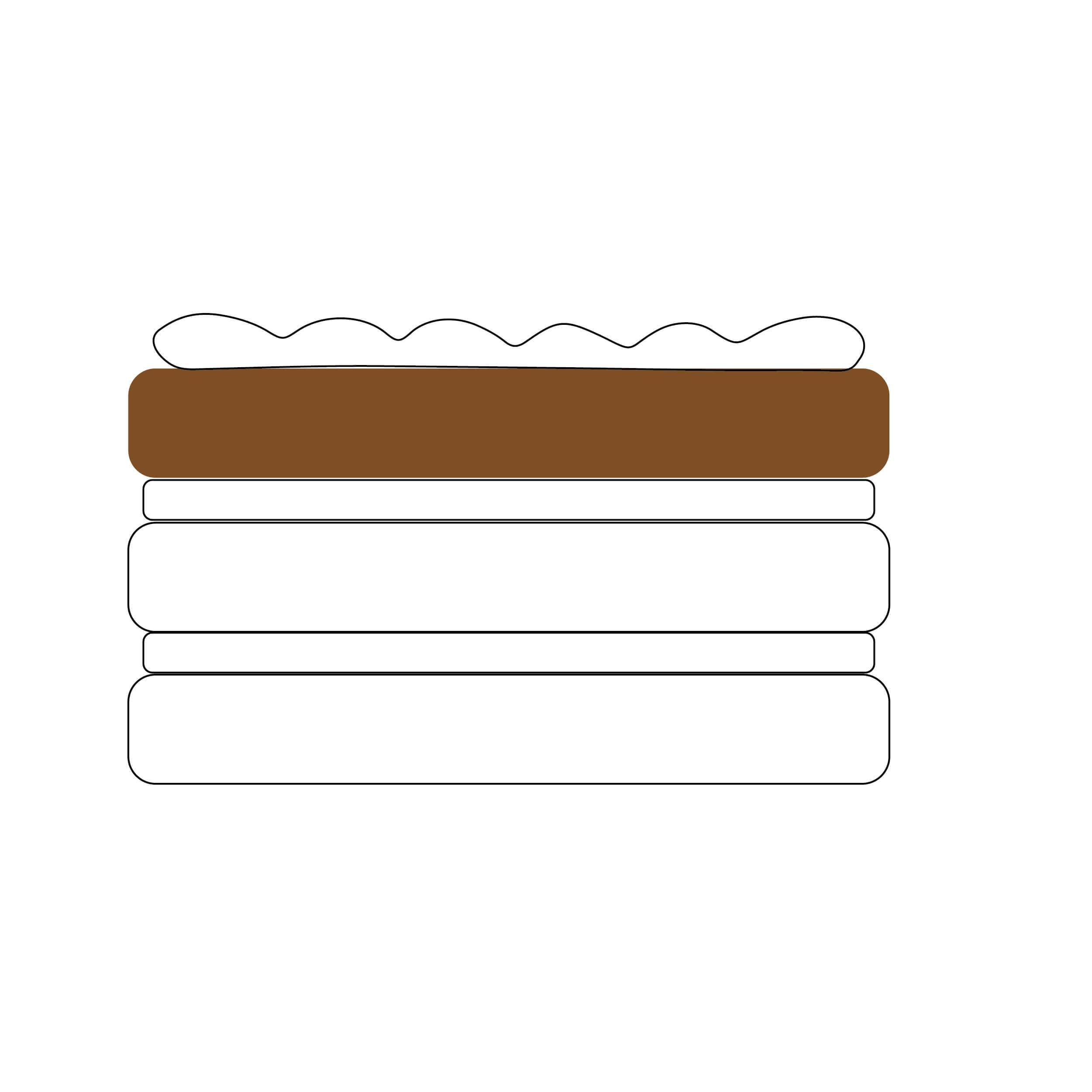 Escolha o bolo de cima :